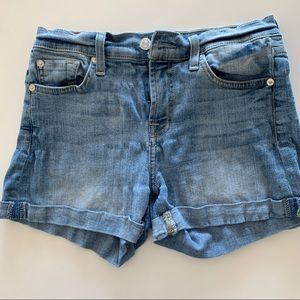 7 FOR ALL MANKIND WOMEN'S JEAN SHORTS SIZE 25